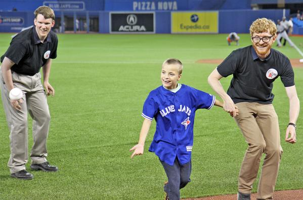 Shawn at Blue Jays Game
